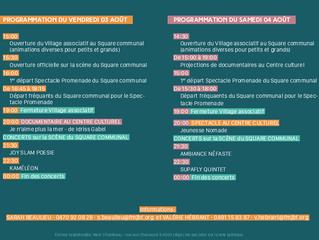 INVITATION au Festival Jeunesse Nomade And Friends ces 3 et 4 août à Rochefort dont la Maison-Ressou