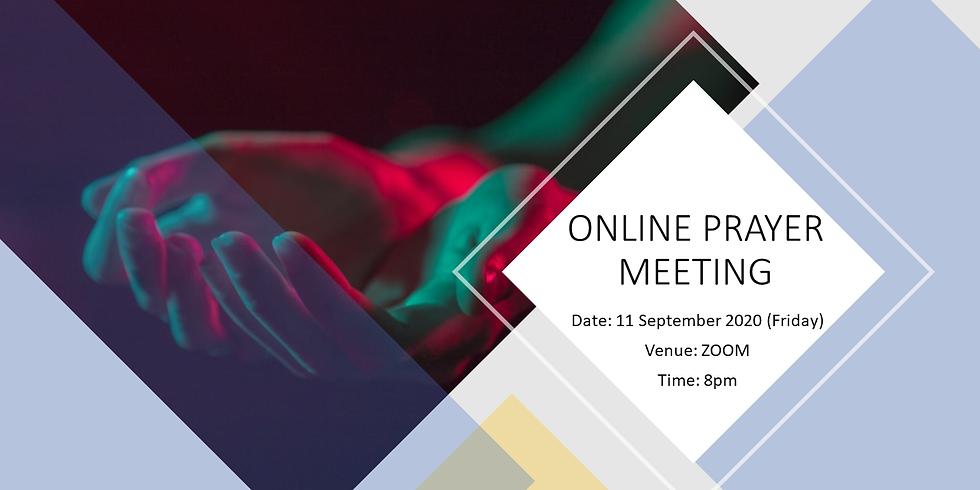 September Online Prayer Meeting