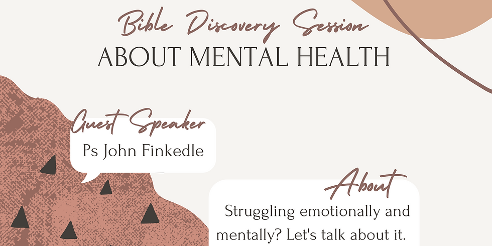 Mental Health Talk by Bible Discovery