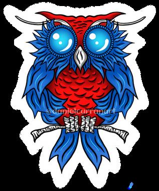 Blue Ribbon Owl