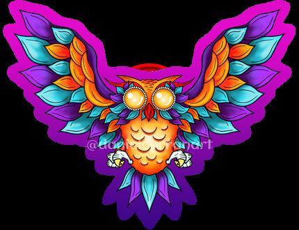 Orange Winged Owl