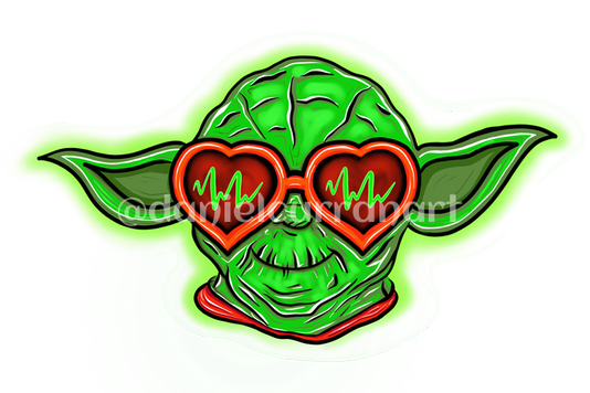 Yoda Heart Glasses