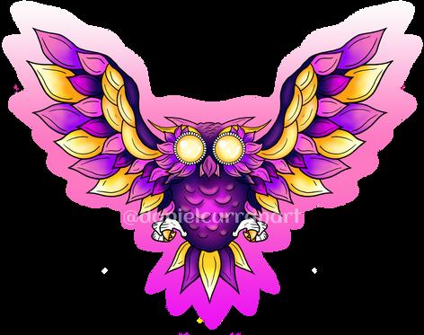 Purple Winged Owl