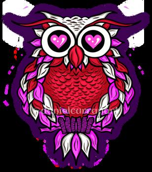 Heart Eyes Owl