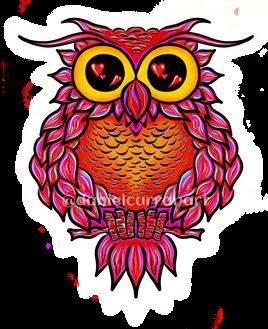 Heart Owl Original