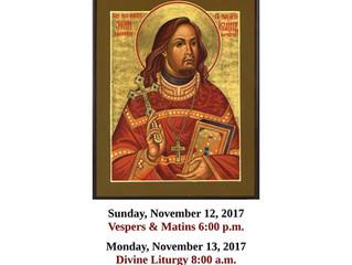 SAVE THE DATE - 100th Anniversary of Martyrdom of St. John Kochurov