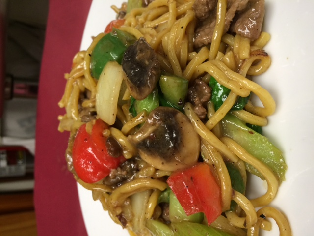 Green Beef Noodle