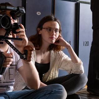 Rebecca Ann Bentley on set of Kill Me, Heal Me.