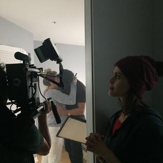Rebecca Ann Bentley on set of Forever (short film).