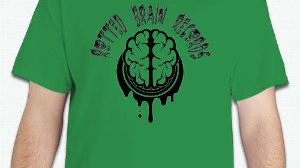 Rotted Brain Logo Shirt Green Uni-Sex