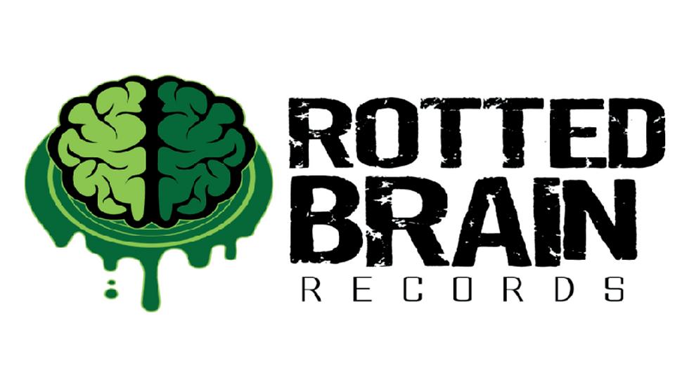 "Rotted Brain Logo Sticker 2""x4"""