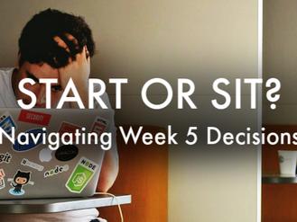 Staff Picks: Start/Sit Week 5