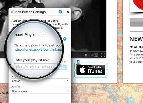 iTunes Button Overview | WIX App Market | Wix com