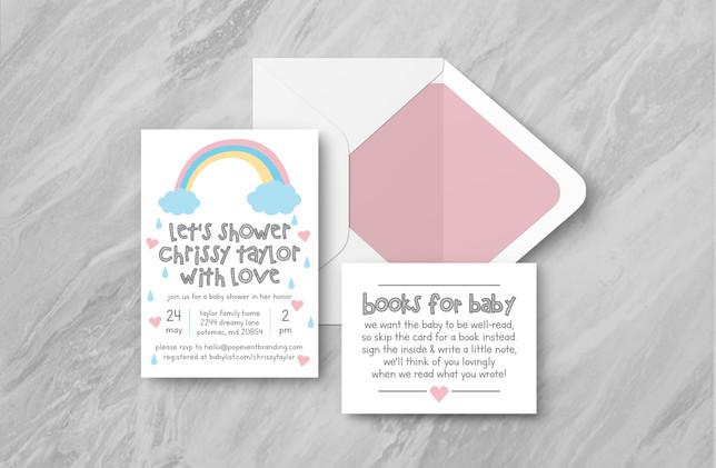 Invite + Books + Envelope - Pink