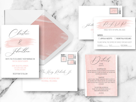 Behind The Design: Watercolor Romance Wedding Invitation Suite