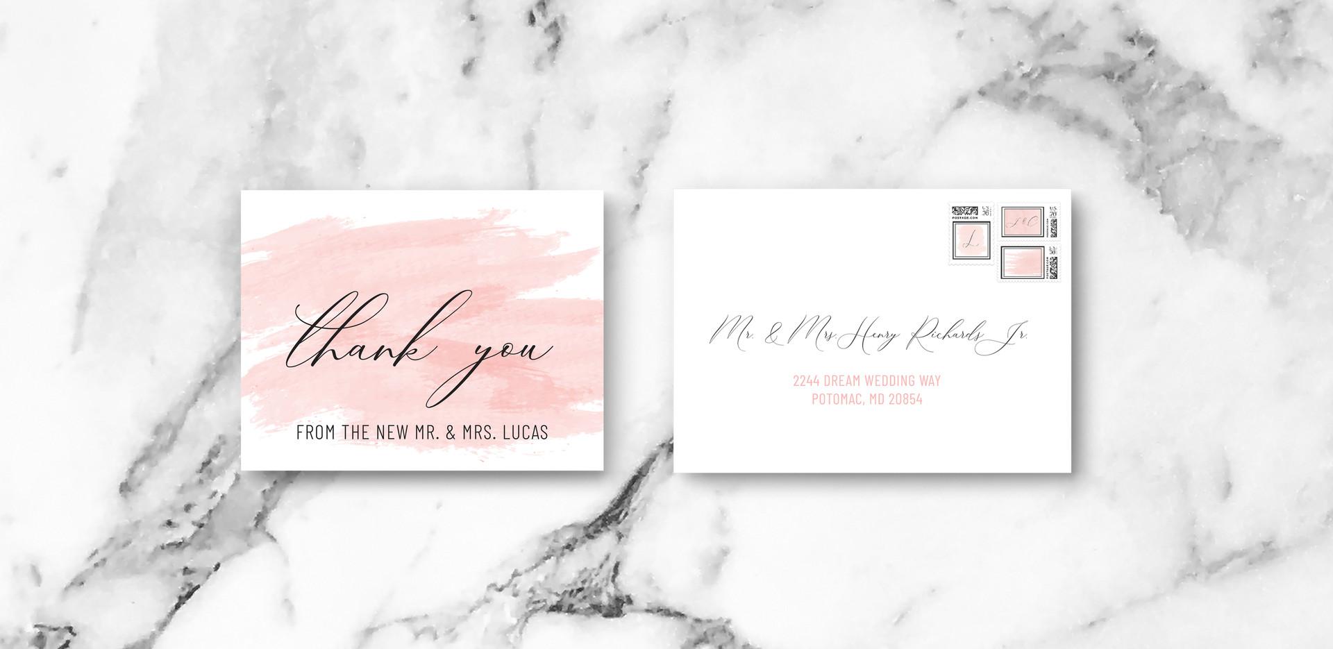 Thank You + Envelope
