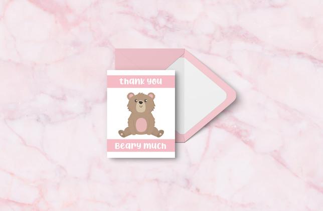 Thank You + Envelope - Pink