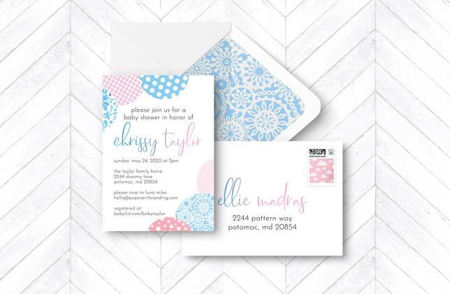 Invite + Envelopes - Blue