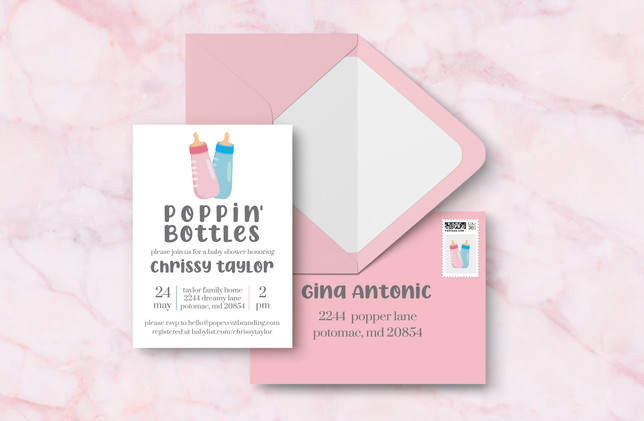 Invite + Envelopes - Pink