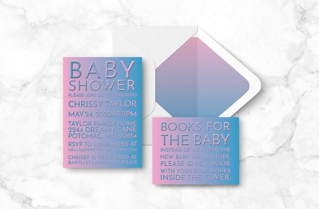 Invite + Books + Envelope