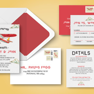 Behind The Design: Adventure Awaits Wedding Invitation Suite