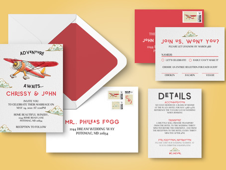 Behind The Design: Adventure Awaits Wedding Invitation Suite