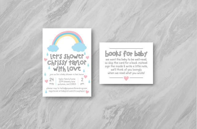 Invite + Books - Pink