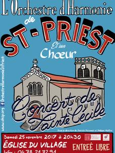 Concert de Ste Cécile : samedi 25 novembre 2017 à 20h30