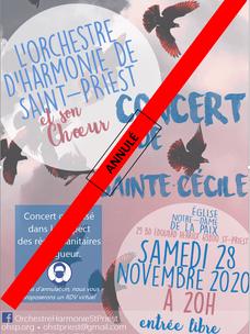 Concert de la Sainte Cécile ANNULÉ