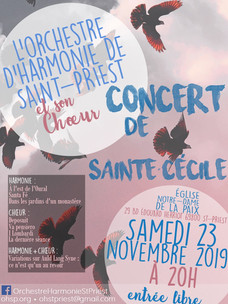Concert de Ste Cécile : samedi 23 novembre 2019