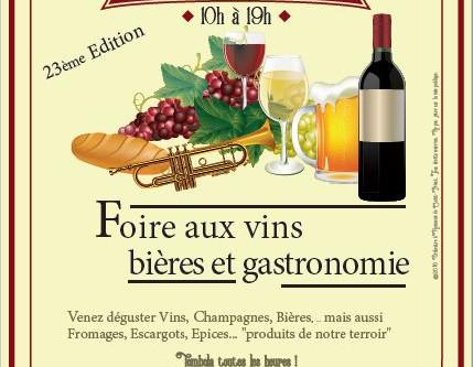 23e Foire aux Vins, Bières et Gastronomie ! Dimanche 1er décembre 2019