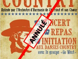 Soirée Country du 4 avril 2020  : ANNULATION