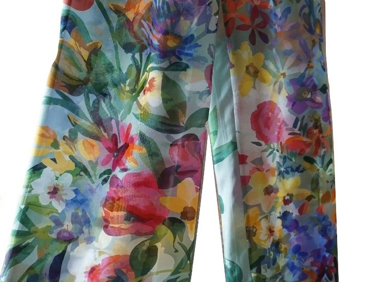 "Trousers ""Vase of Flowers"""