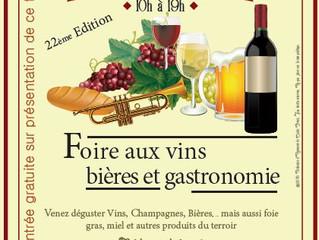 22e Foire aux Vins, Bières et Gastronomie ! Dimanche 2 décembre 2018