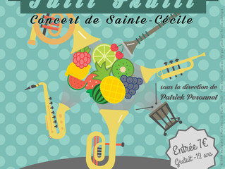 Concert de la Sainte-Cécile le 26 Novembre 2016 : Tutti Frutti