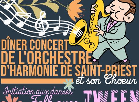 "Samedi 18 mai 2019 à 19h30 : ""Vents et voix en bal FOLK"" : dîner+concert+bal !!"