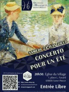 Samedi 24 juin : Concerto pour un été