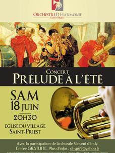 Concert 18 Juin : Prélude à l'été !