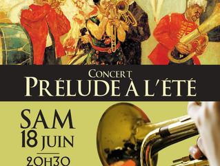 Concert 18 Juin 2016 : Prélude à l'été !