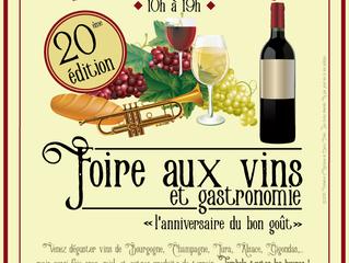 """Notre """"Foire aux Vins et Gastronomie"""" fut un digne anniversaire pour sa 20ème édition, le"""