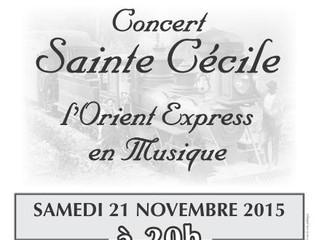 Concert de Ste Cécile : L'Orient Express en Musique