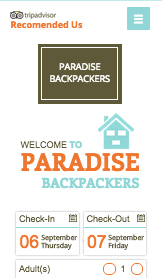 Apartments & Hostels website templates – Backpackers Hostel