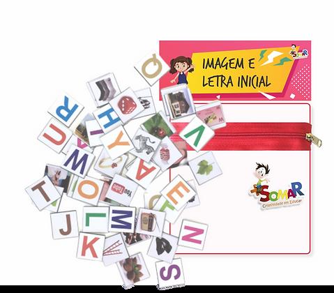 Kit Imagem & Letra Inicial Imantado