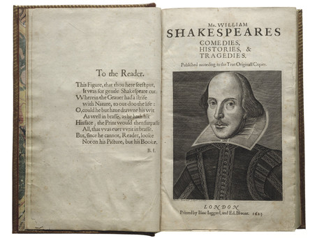 Shakespeare's First Folio Touring to AST and UCA in 2016