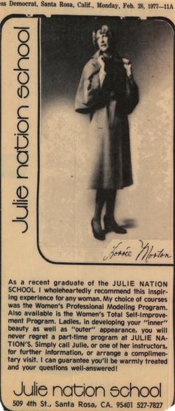 1977 JN School Ad