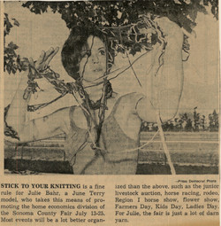 Julie Knitting Model
