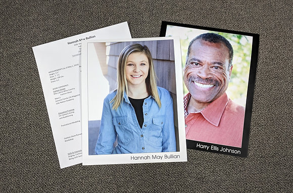Headshots (8x10) with Printed Resume