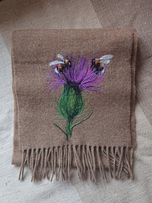 Bees and Thistle Merino Wool Scarf