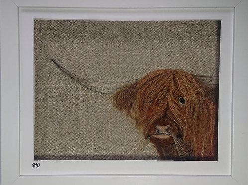 Highland Cow Needle Felt Picture