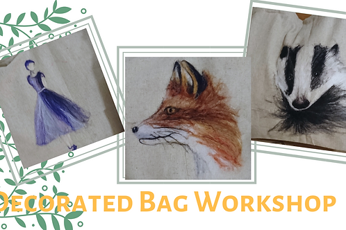 Decorated Bag Workshop at Studio 62 - Deposit only